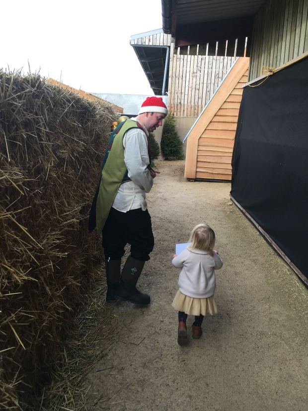Our Elf leading us to meet Father Christmas